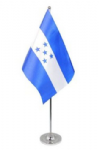 Honduras Desk / Table Flag with chrome stand and base.